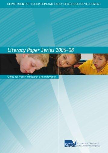 Literacy Paper Series 2006−08 - Victoria Online