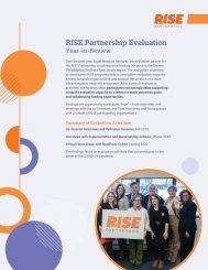 RISE Partnership Evaluation Year-in-Review