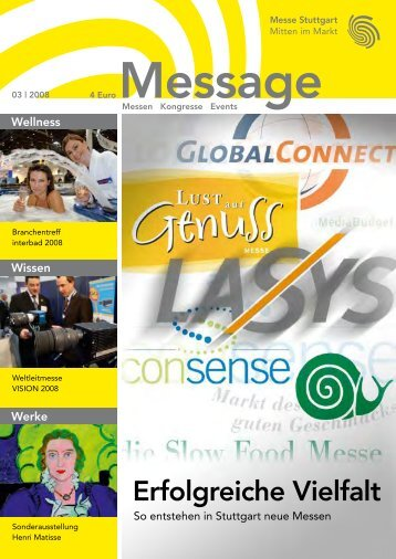 Message Ausgabe 3/2008 - Messe Stuttgart