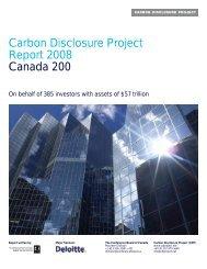 Carbon Disclosure Project Report 2008: Canada 200