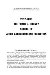 2012-2013 the frank j. rooney school of adult and ... - Barry University