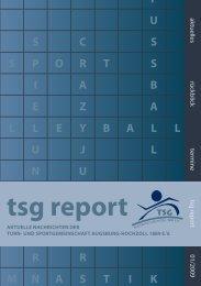 tsg report - TSG Augsburg-Hochzoll 1889 eV