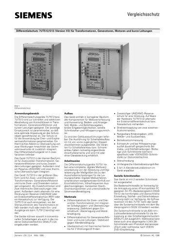 (Version V3) für Transformatoren - SIPROTEC