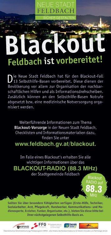 Blackout - Feldbach ist vorbereitet!