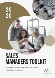 Sales manager case study Subject 1 Case study
