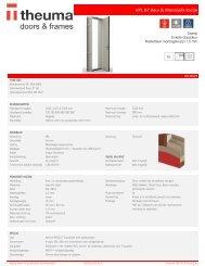 Productdatablad MonoSafe deurset HPL N7 37dB met kozijn en beslag