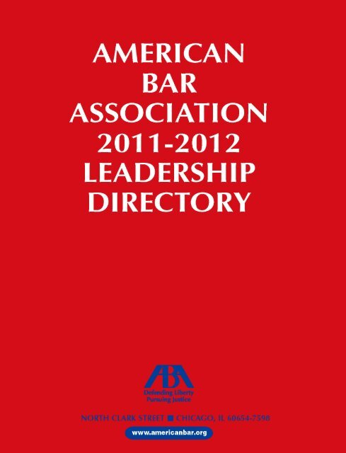 SECTIONS, DIVISIONS AND FORUMS - American Bar Association
