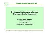 Trinkwassermaterialien und TPE - PlasticsEurope