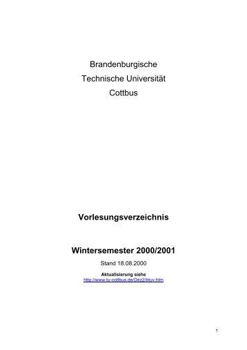 STURA - Studierendenrat der BTU Cottbus - Software ...