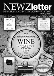 NEWZletter - New Zealand Society of Hong Kong (NZSHK)
