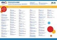 VHS Wendelstein Programm Herbst/Winter 2020/2021