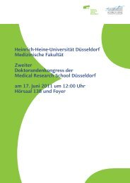 34 Seiten als pdf - MedRSD - Heinrich-Heine-Universität Düsseldorf