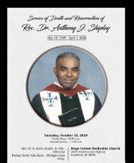Rev. Dr Shipley's Obituary