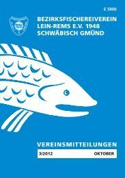 Termine 2012/2013 - Bezirksfischereivereins Lein-Rems