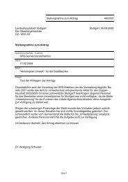 1500-00 Stuttgart, 05.04.2005 Stellungnah - Landeshauptstadt ...