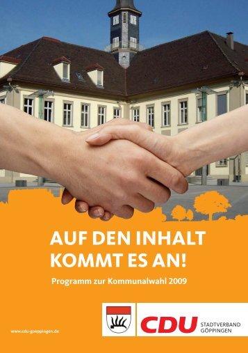 Programm - CDU Kreisverband Göppingen