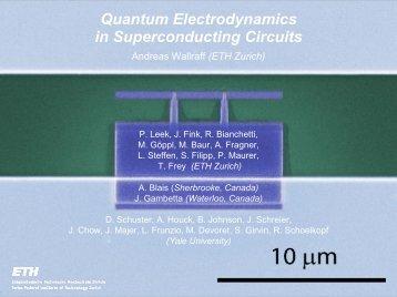 Quantum Electrodynamics in Superconducting Circuits - LTL