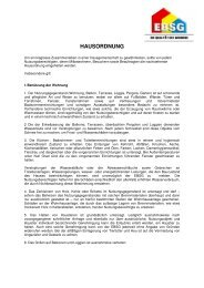 HAUSORDNUNG - EBSG