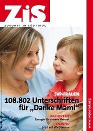 """108.802 Unterschriften für """"Danke Mami"""" - Südtiroler Volkspartei"""