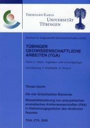 Die vier Griechischen Elemente: - TOBIAS-lib - Universität Tübingen