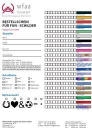 bestellschein für fun - schilder - Werkstatt für angepaßte Arbeit GmbH