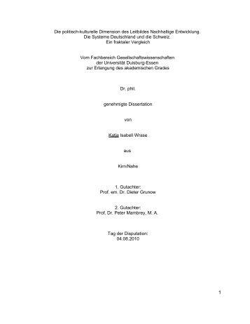 Die politisch-kulturelle Dimension des Leitbildes ... - SSOAR