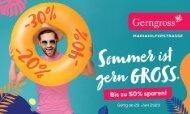 Gerngross Gutscheinheft Sommer 2020