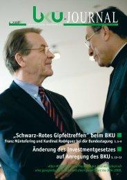 """""""Schwarz-Rotes Gipfeltreffen"""" beim BKU"""