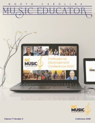 NC Music Educator Conference 2020
