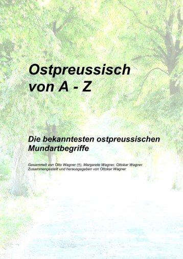 Ostpreussisch von A - Z