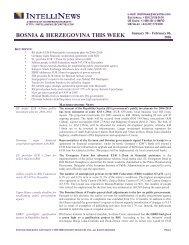 BOSNIA & HERZEGOVINA THIS WEEK