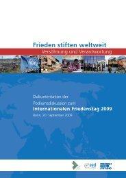 Frieden stiften weltweit - Bibliothek der Friedrich-Ebert-Stiftung