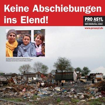 Keine Abschiebungen ins Elend! - Pro Asyl