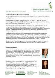 Weiterbildung zum sytemischen A - Coaching Spirale GmbH