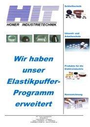 Selbstklebende Elastikpuffer - HIT - Honer Industrietechnik