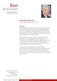 Alexander Niemetz - Econ Referenten-Agentur