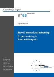 Beyond international trusteeship - European Union Institute for ...