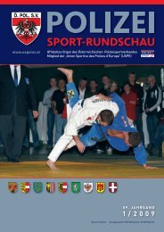 2009_Ausgabe_1 - Österreichischer Polizeisportverband