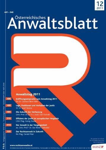 Anwaltsblatt 2011/12 - Österreichischer Rechtsanwaltskammertag