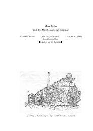 Max Dehn und das Mathematische Seminar - Institut für Mathematik ...