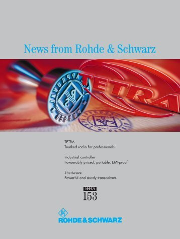 News from Rohde & Schwarz 153 - en-US
