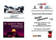 Schwarzsee Riesenslalom - Regionalverband Schneesport Mittelland