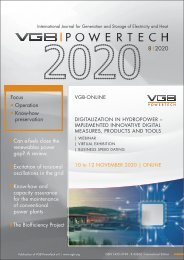 VGB POWERTECH 8 (2020) - International Journal for Generation and Storage of Electricity and Heat
