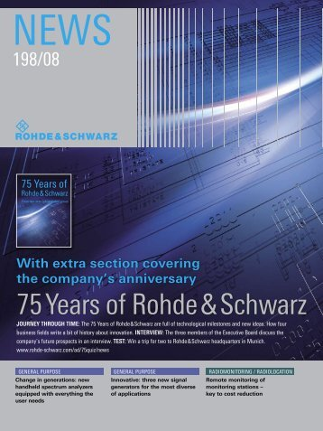 With extra section covering the company's ... - Rohde & Schwarz
