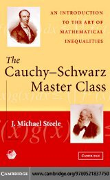THE CAUCHY–SCHWARZ MASTER CLASS: An Introduction to ... - 1