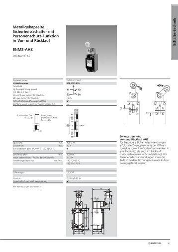 Sicherheitsschalter für schwenkbare Schutzvorrichtungen - Sicatron