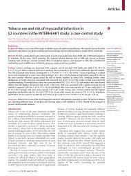 Articles Tobacco use and risk of myocardial infarction in ... - AGAKAR