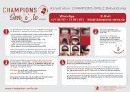 Champions Smile – das ist das Procedere für Zahnärzte