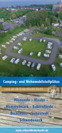 Camping- und Wohnmobilstellplätze rund um die Eckernförder Bucht