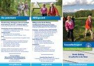 Gesundheitssport in den Hüttener Bergen